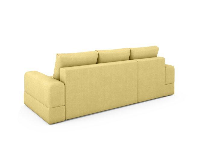 Угловой Диван-кровать Elke левый  желтого цвета