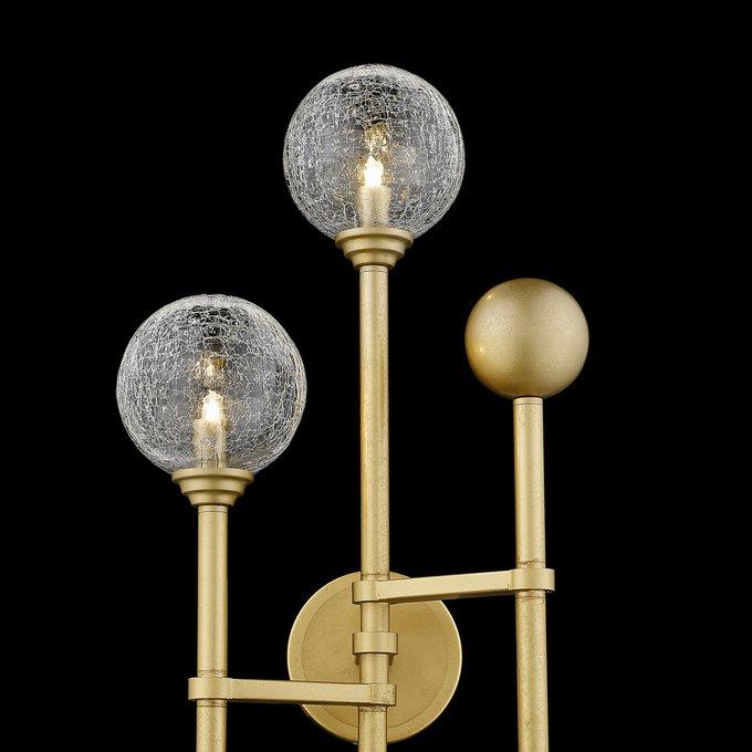 Настенный светильник со стеклянными плафонами