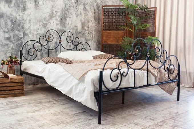 Кованая кровать Афина 1.4 с двумя спинками 140х200