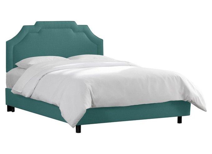 Кровать Одри бирюзового цвета 160х200 с ящиком для хранения