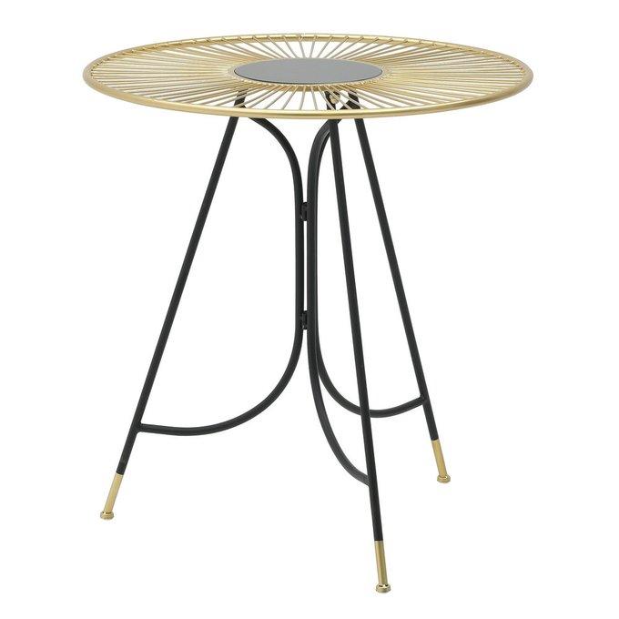 Кофейный стол из металла и стекла