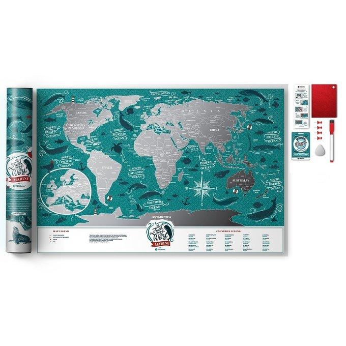 Карта travel map marine world