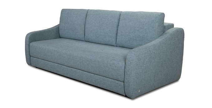 Прямой диван-кровать Иден серо-голубого цвета