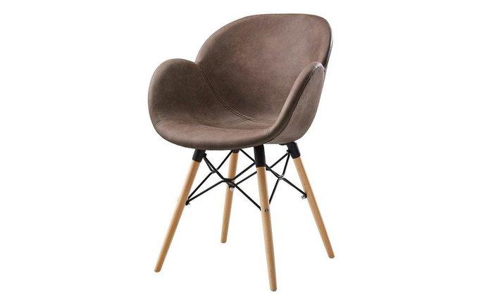 Стул-кресло Колонель коричневого цвета