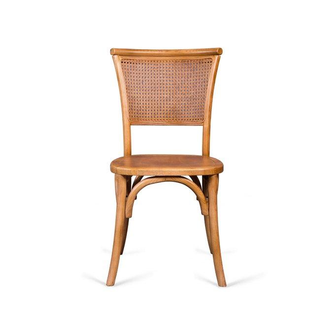 Венский стул Een Veer со спинкой из ротанга