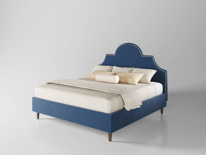 Кровать Бриэль 180х200 тёмно-синего цвета  с подъемным механизмом
