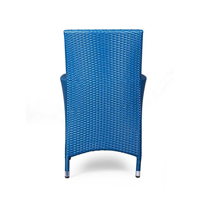 Кресло Rattan синего цвета