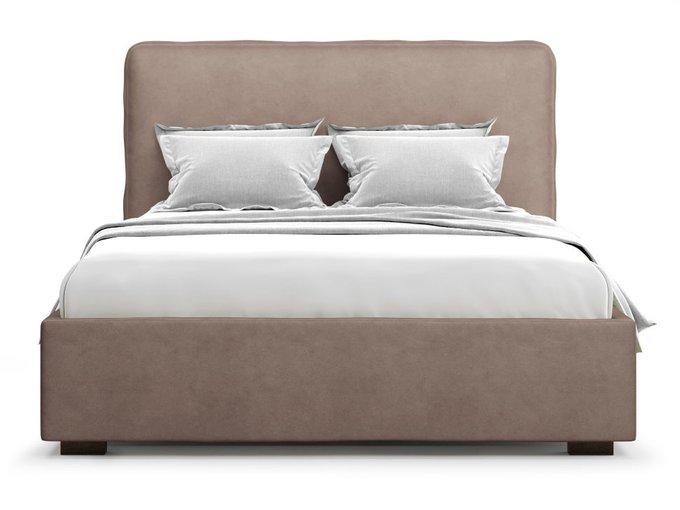 Кровать Brachano 140х200 светло-коричневого цвета с подъемным механизмом