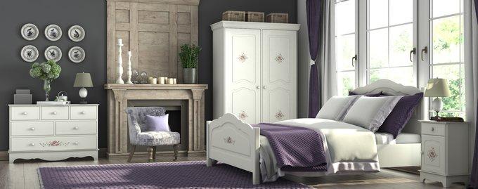 Шкаф трехстворчатый Belle Fleur Blanc