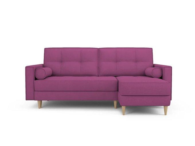 Диван-кровать Отто правый пурпурного цвета цвета
