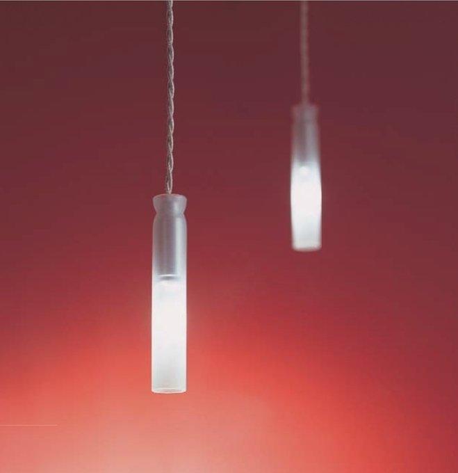 Подвесной светильник Album RADIALE с плафоном из матового белого стекла