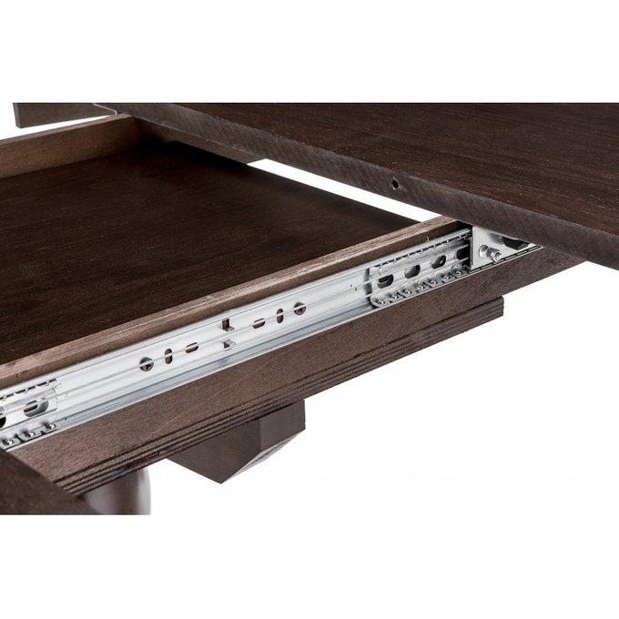 Обеденный раскладной стол Лосон цвета шоколад