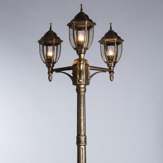 Садово-парковый светильник Pegasus черного цвета