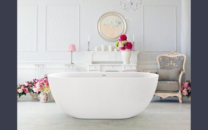 Каменная Ванна Corelia белая