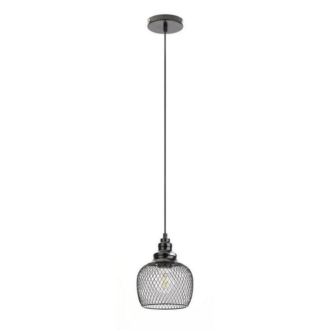 Подвесной светильник Loft из металла черного цвета