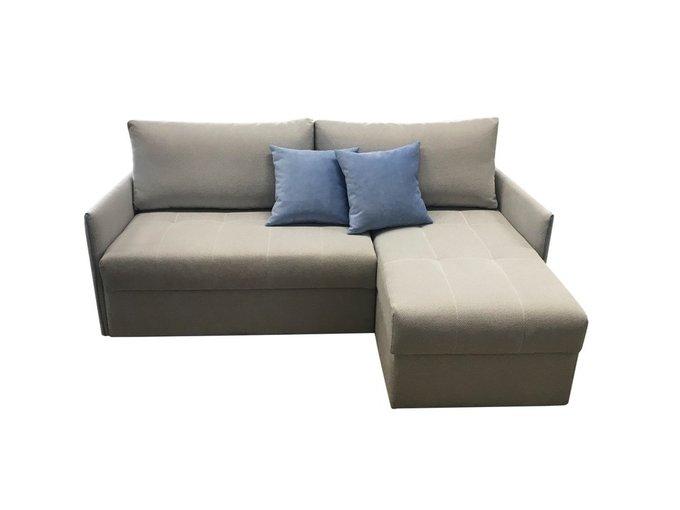 Угловой диван-кровать Бремен светло-серого цвета