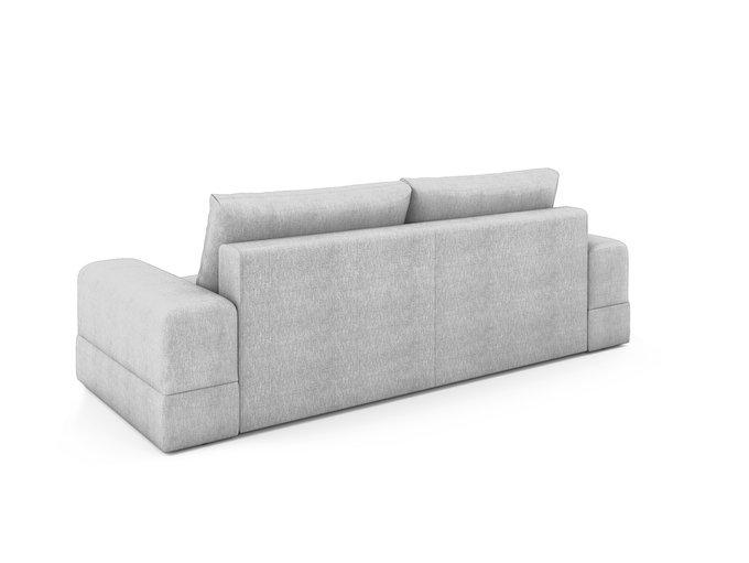 Угловой раскладной диван Elke левый светло-серого цвета
