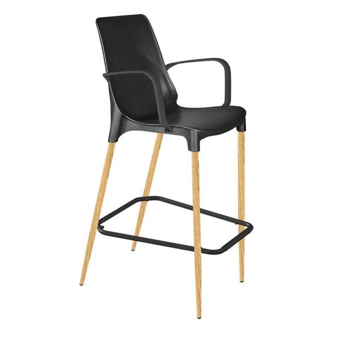 Барный стул Gianluca черного цвета