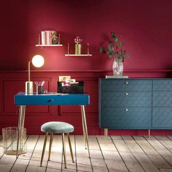 Письменный стол Topim с ящиком синего цвета