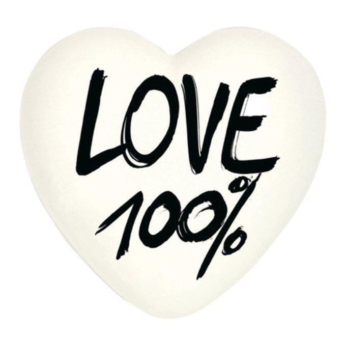 """Комплект сердец """"100% Love + Crosswords"""""""