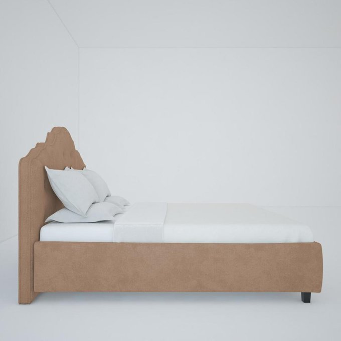 """Кровать """"Palace"""" Велюр серо-коричневого цвета 140x200"""