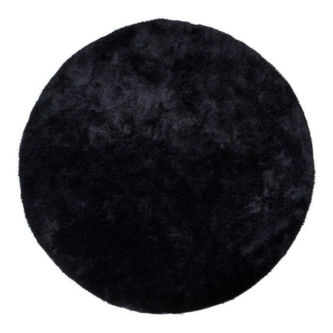 Ковер Florida черного цвета диаметр 120