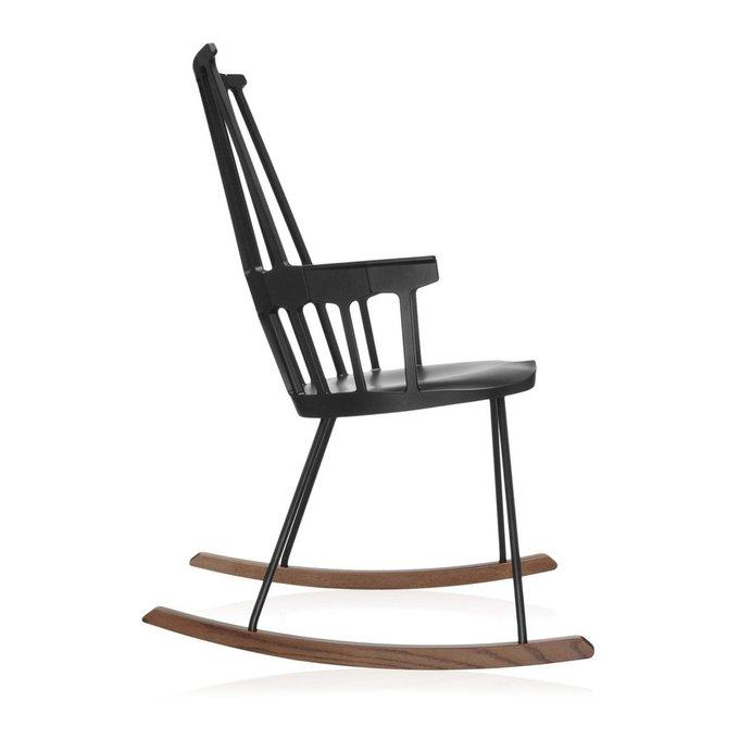 Кресло-качалка Comback черного цвета