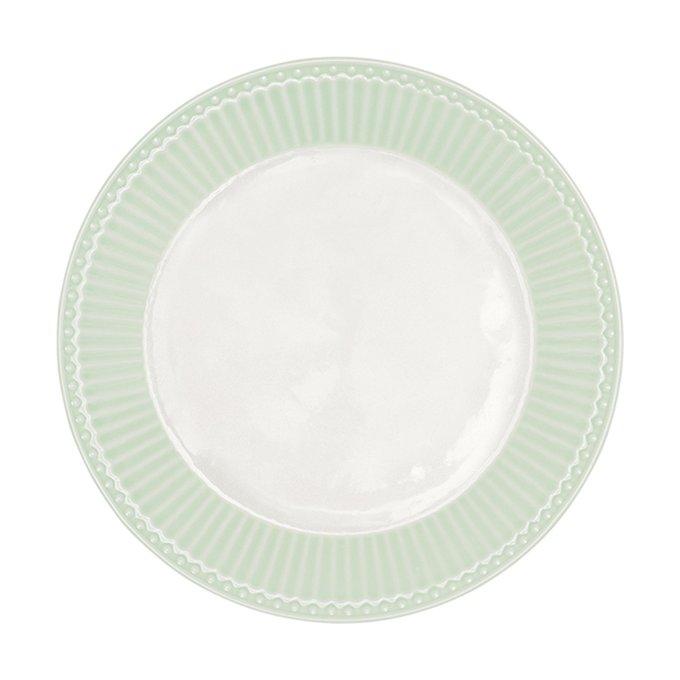 Тарелка Alice pale green из фарфора