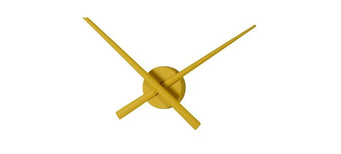 Настенные часы OJ Mustard из пластика горчичного цвета