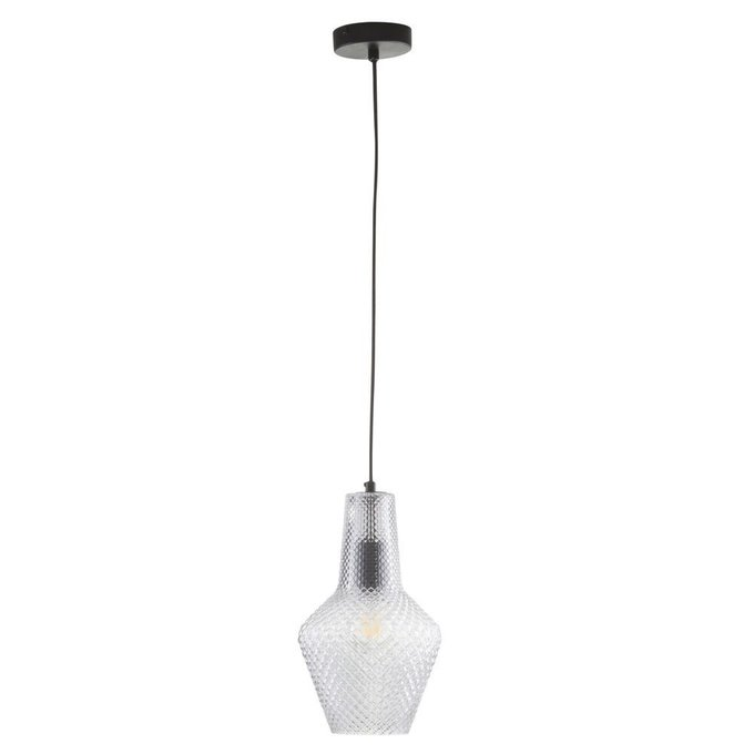Подвесной светильник Tommy из рельефного стекла