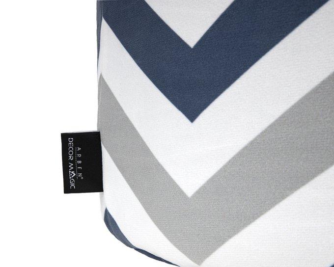 Пуф Спутник Lokky с узором серо-синего цвета
