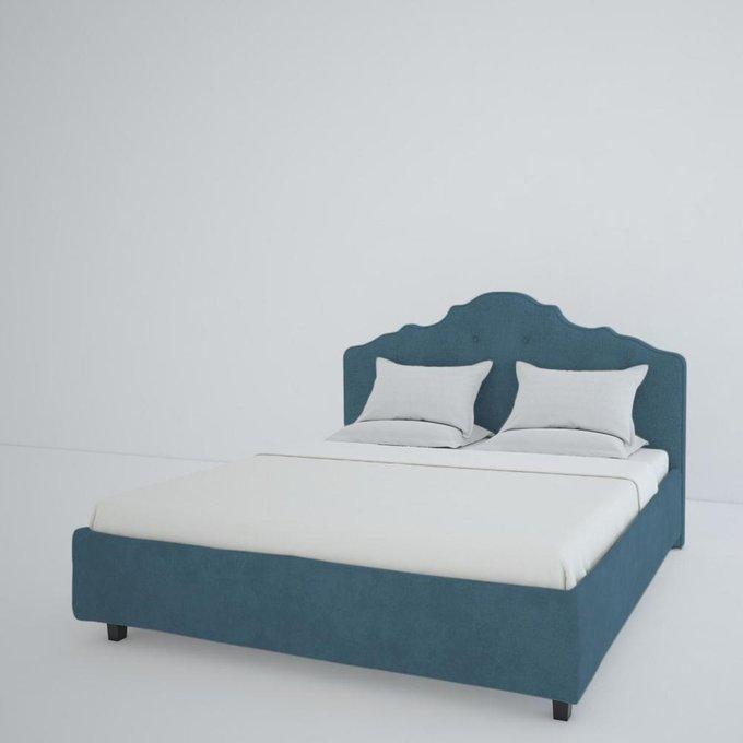 Кровать Palace Велюр Морская волна 180x200
