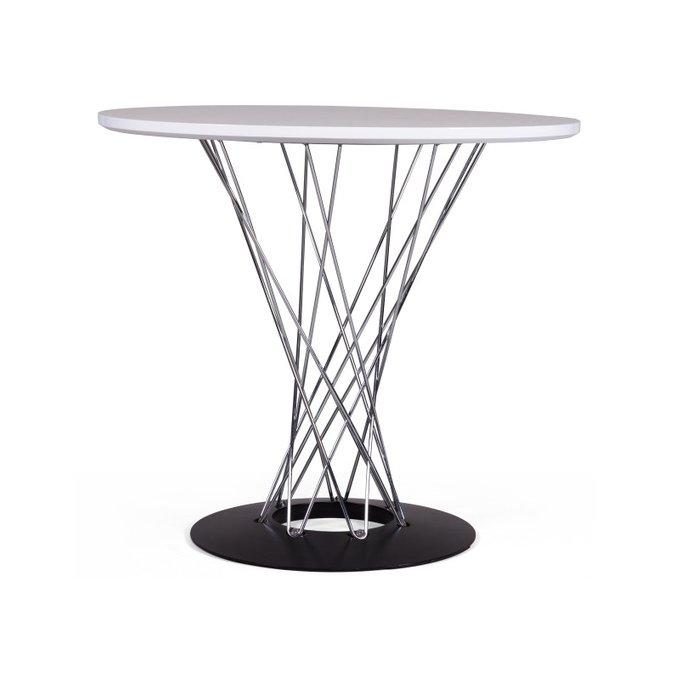 Обеденный стол Noguchi Cyclone с белой столеницей