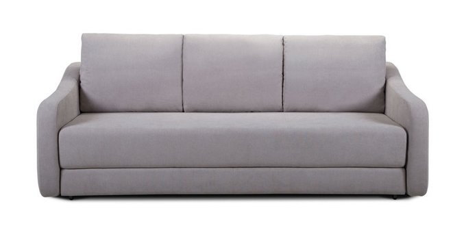 Прямой диван-кровать Иден серого цвета