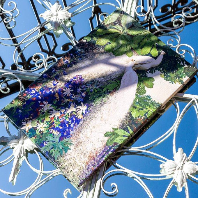 Картина на холсте Королевский павлин версия 2