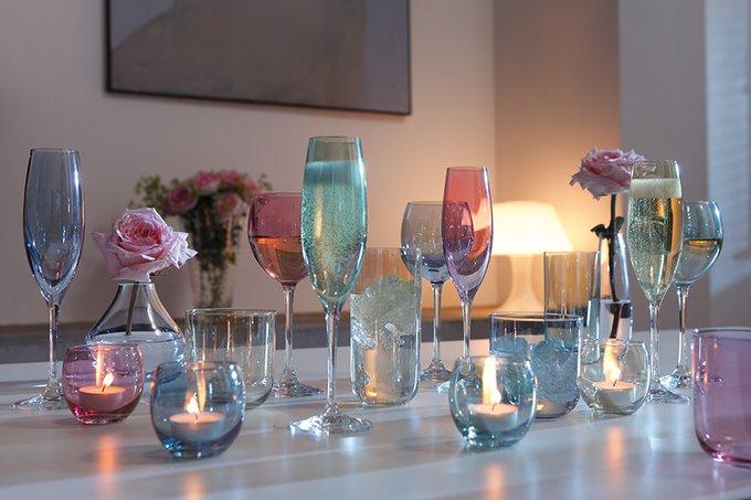 Набор из 4 подсвечников для чайных свечей polka пастель
