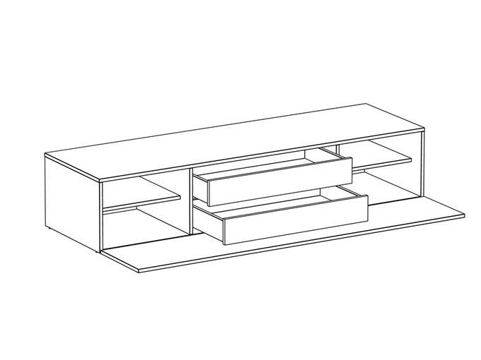 Тумба для ТВ Gusto с полками и ящиками