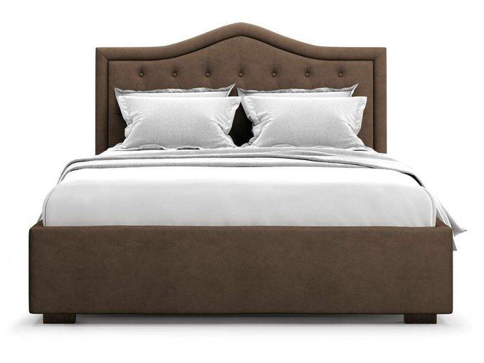 Кровать Tibr без подъемного механизма 160х200 шоколадного цвета