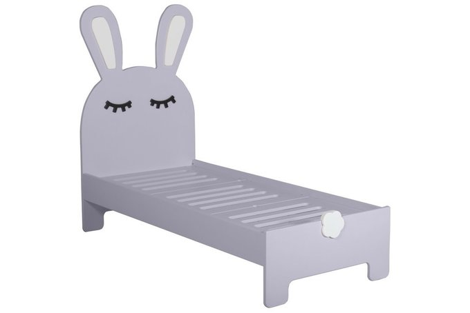 Детская кроватка Sleepy Bunny лавандового цвета