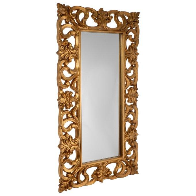 Зеркало настенное Фьюмичино золотого цвета
