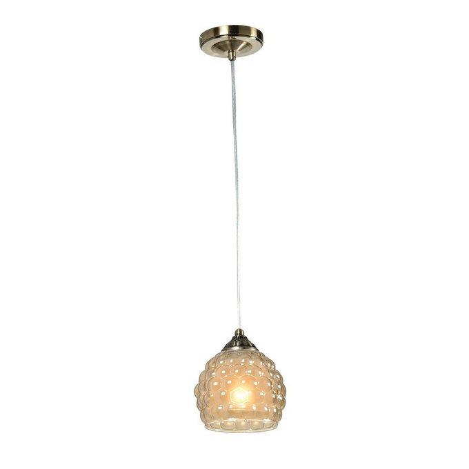 Подвесной светильник Bella Oldbronze с плафоном из стекла
