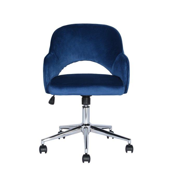 Кресло офисное Кларк синего цвета