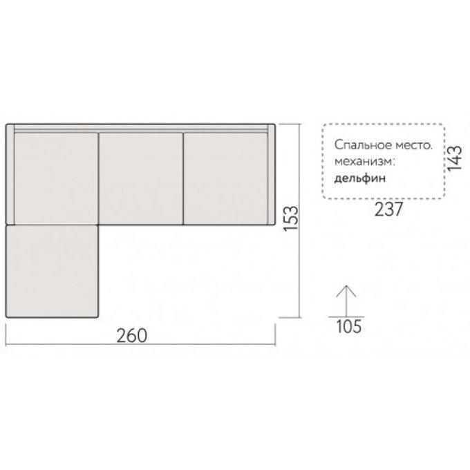 Угловой диван-кровать Ницца с коробом для хранения
