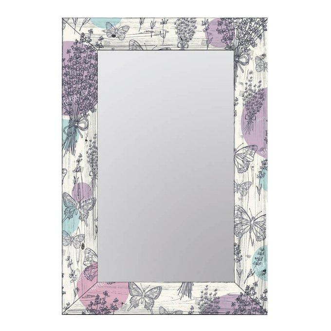 Дизайнерское настенное зеркало Нежная лаванда 55х65