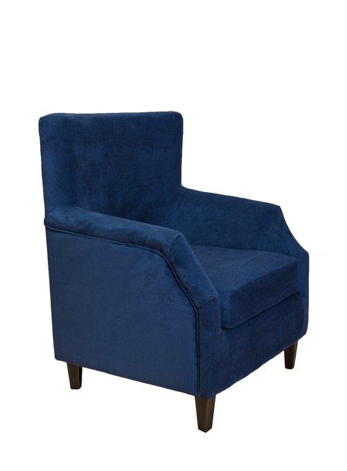 Мягкое кресло Hubert синего цвета