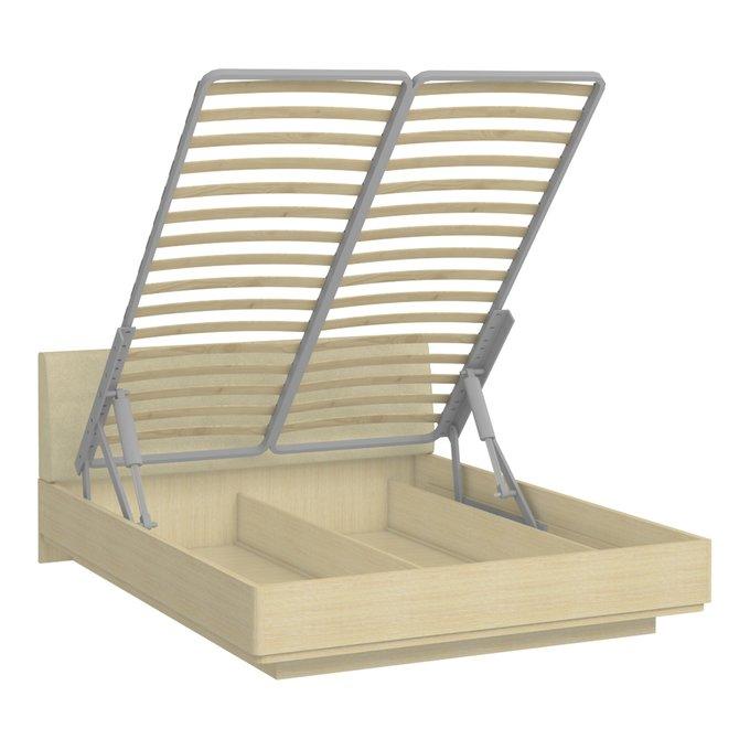 Кровать Элеонора 140х200 бежевого цвета с подъемным механизмом