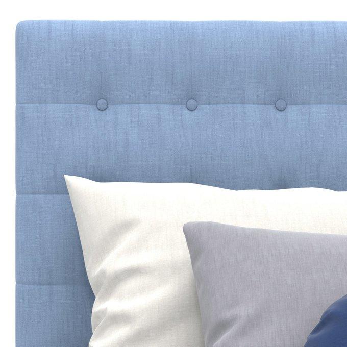 Односпальная кровать Avery голубого цвета 80х160