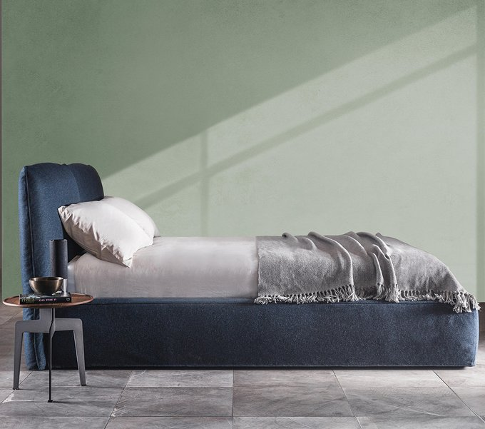 Кровать Soap синего цвета 180х200
