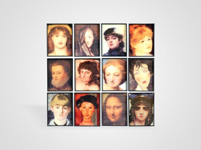 Настенный декор «Женские портреты» 23х30 см