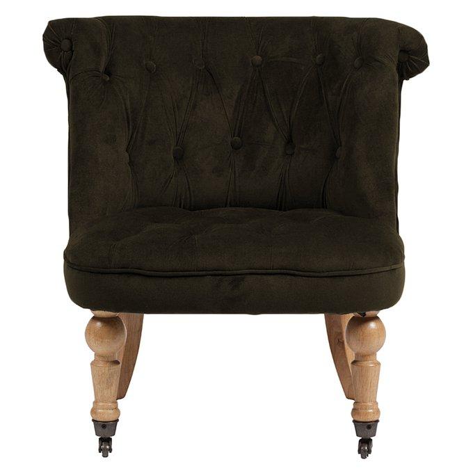 Кресло Amelie French Country Chair Серо-Коричневый Велюр